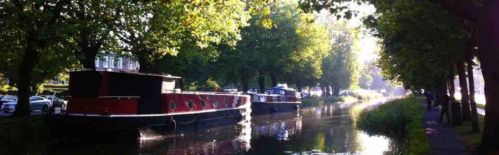 an image of the-liffey-canal-dublin-city on a sunny day